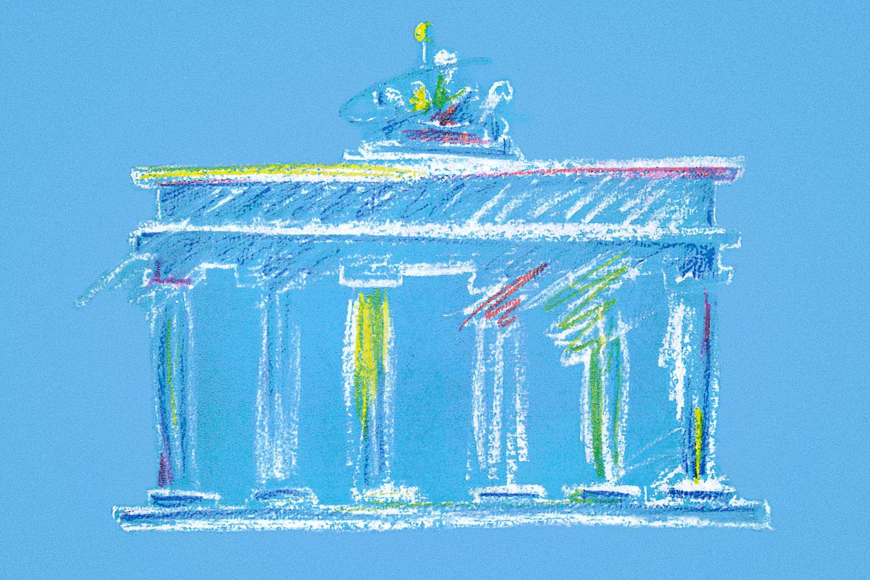 Brandenburger Tor, Illustration Thomas Heim