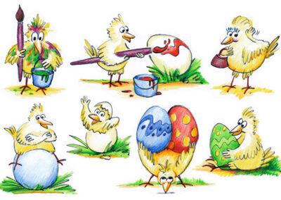 Oster-Illustrationen, MVDA Flyer