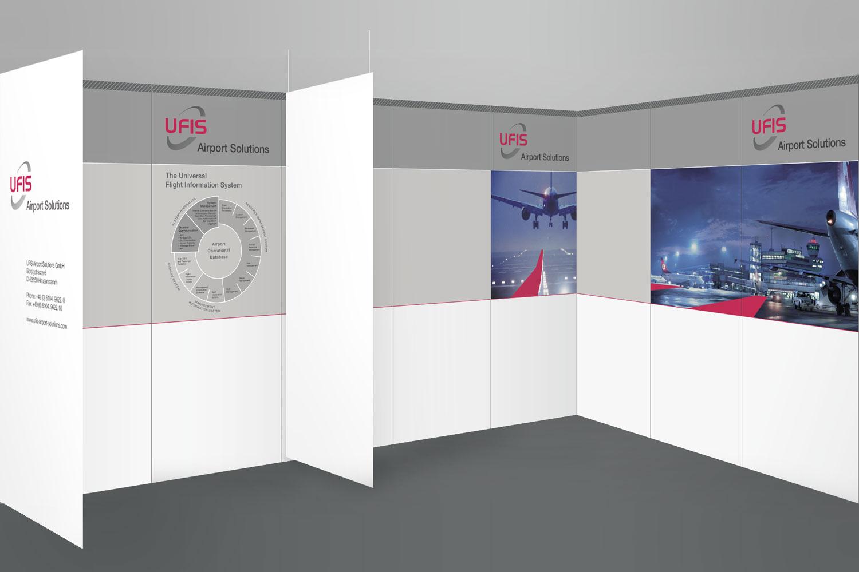Messetafeln Ufis Airport Solutions