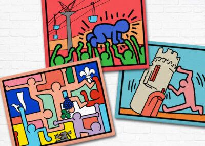 Symbolhafte Karikaturen