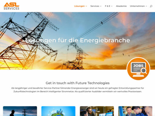 Homepage-Relaunch der ASL Services