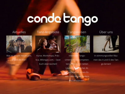 Conde Tango, Relaunch der Homepage