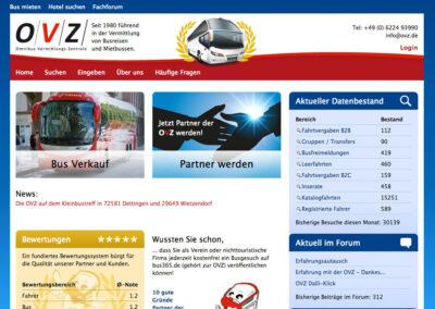 OVZ, Facelifting einer B2B Seite