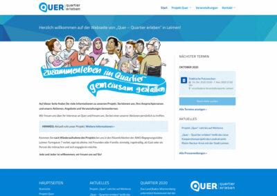 """Homepage zum Projekt """"Quer"""""""